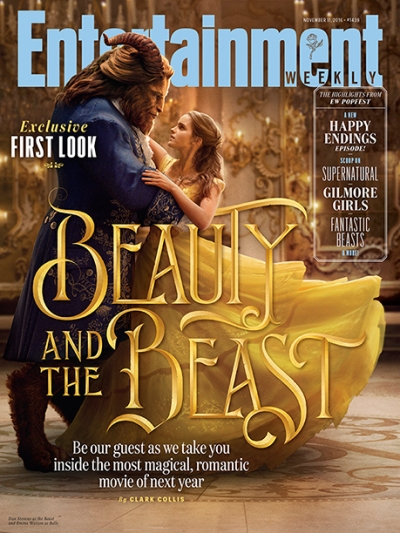 """Belle (Emma Watson) and the Beat (Dan Stevens) in the live-action remake of """"Beauty and the Beast."""" Photo by Disney   published by Entertainment Weekly."""