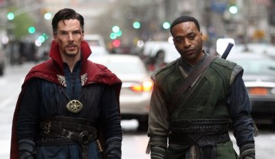 "Doctor Strange (Benedict Cumberbatch) and Baron Mordo (Chiwetel Ejiofor) go on a mind-bending adventure in Marvel's ""Doctor Strange"" (Marvel/Disney)"