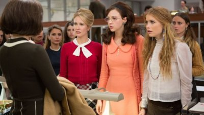 """Jane Hollander (Anna Camp), Cindy Reston (Erin Darke) and Patti Robinson (Genevieve Angelson) in the research """"pit"""" of """"News of the Week"""" in Amazon's """"Good Girls Revolt."""" (Photo courtesy of Amazon)"""